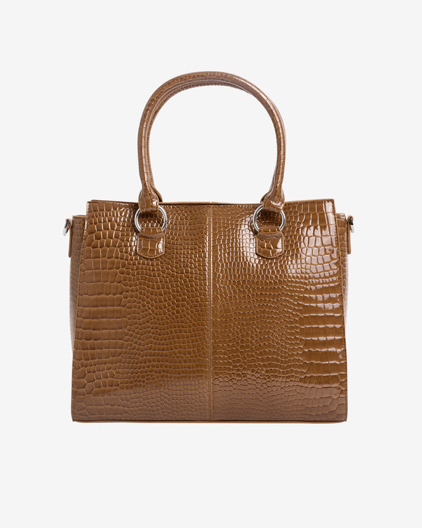 Hvisk MOXIE CROCO Shopper 124 Brownish