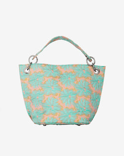 Hvisk NEAT FLORAL Handle Bag 014 Blue