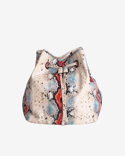 Hvisk NELLISH SNAKE Bucket Bag 027 White