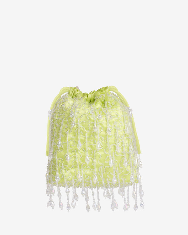 Hvisk POUCH ROMANCE BEADED Handle Bag 111 Lime Green