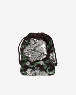 Hvisk POUCH WATER LILY BEAD Handle Bag 009 Black