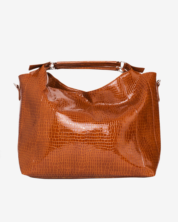 Hvisk PRANCE CROCO Shopper 079 Chocolate