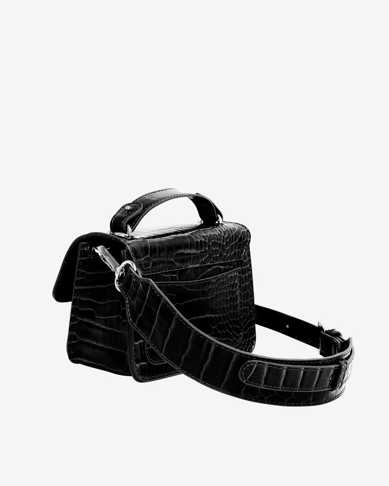Hvisk RENEI CROCO Crossbody 009 Black