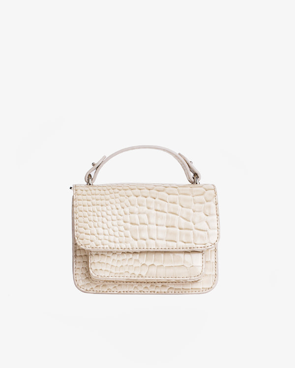 Hvisk RENEI CROCO Crossbody 116 Soft offwhite