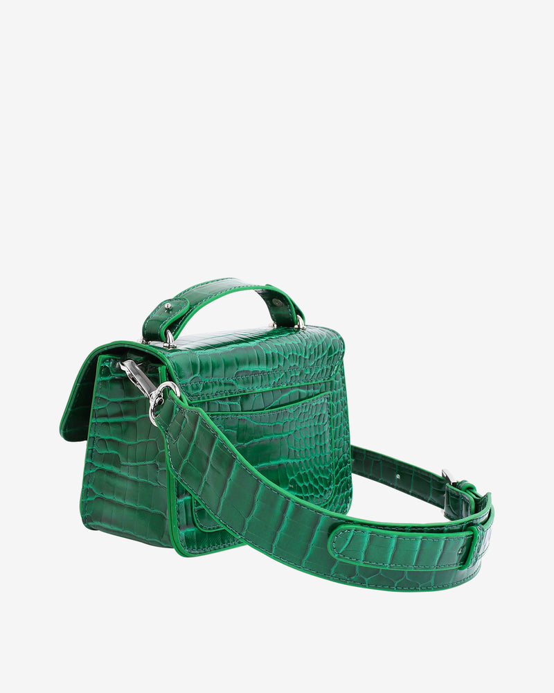 Hvisk RENEI CROCO Crossbody 127 Pine Green