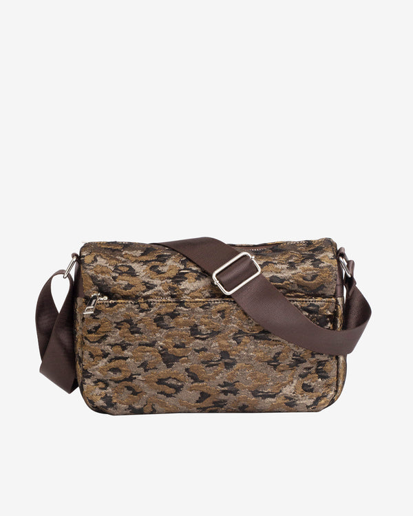 Hvisk TERRA LEOPARD Crossbody 113 Silver Brown Multi