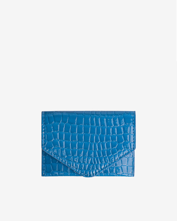 Hvisk WALLET CROCO Wallet 014 Blue