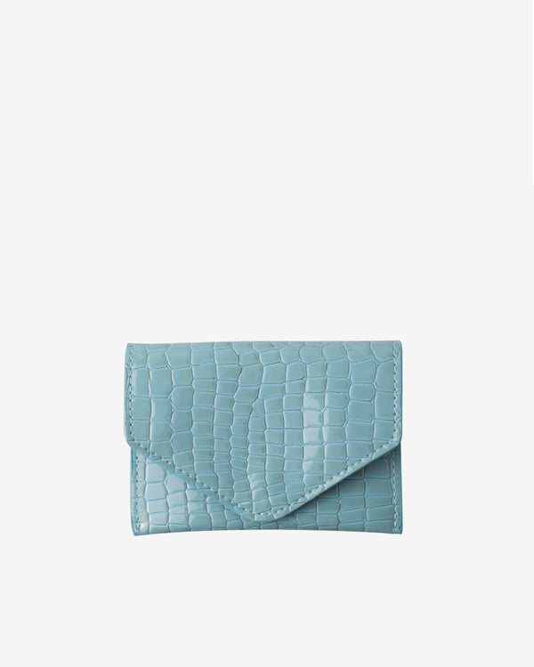 Hvisk WALLET CROCO Wallet 081 Light Blue