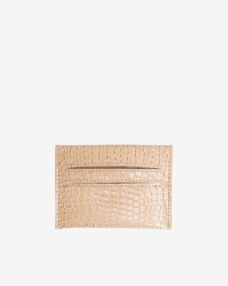 Hvisk WALLET CROCO Wallet 122 Light Beige