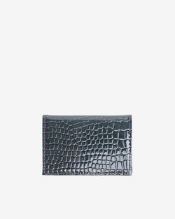 Hvisk WALLET FOLDED CROCO Wallet 123 Grey Dark