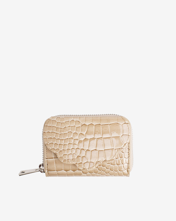 Hvisk WALLET SHELL CROCO Wallet 122 Light Beige