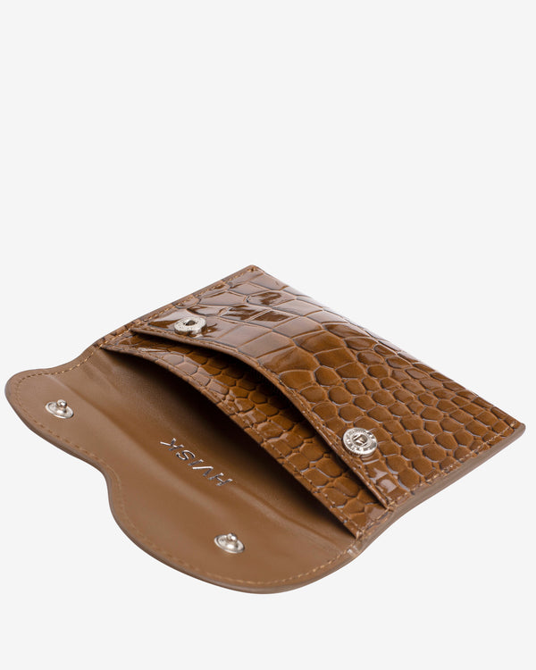 Hvisk WALLET WAVY CROCO Wallet 124 Brownish