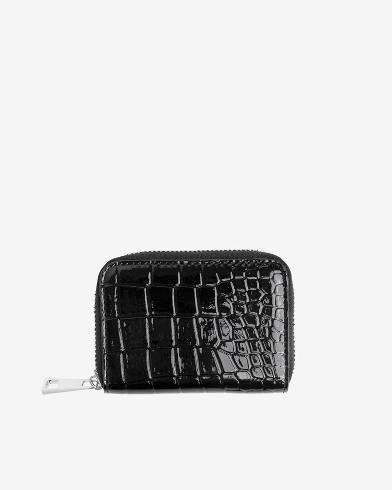 Hvisk WALLET ZIPPER CROCO Wallet 009 Black