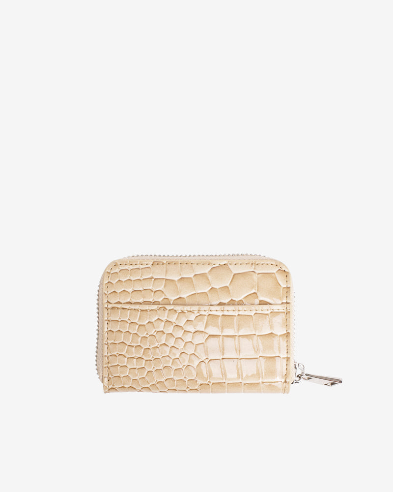 Hvisk WALLET ZIPPER CROCO Wallet 122 Light Beige
