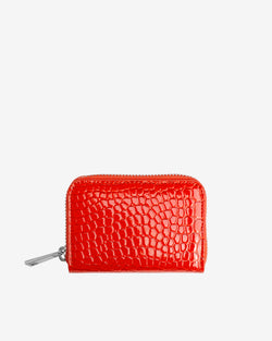 Hvisk WALLET ZIPPER CROCO Wallet 118 Orange/red