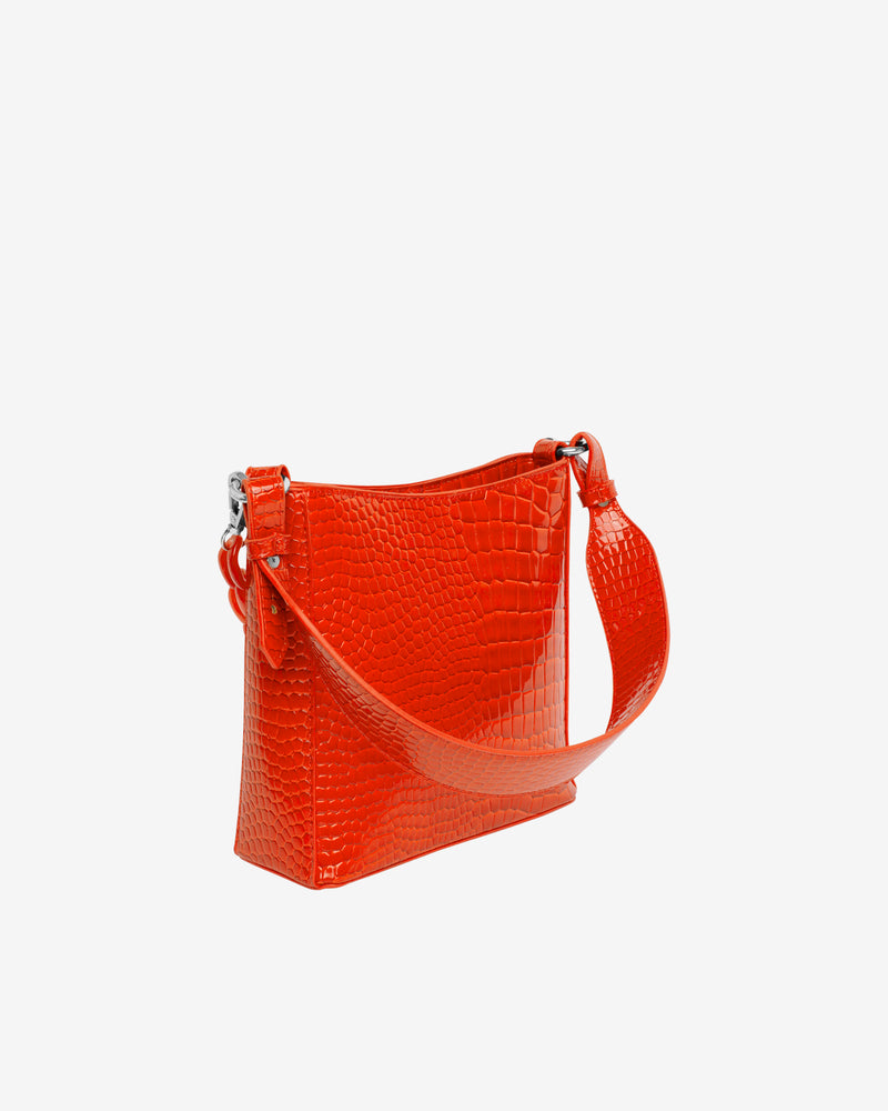 Hvisk AMBLE CROCO SMALL Handle Bag 118 Orange/red