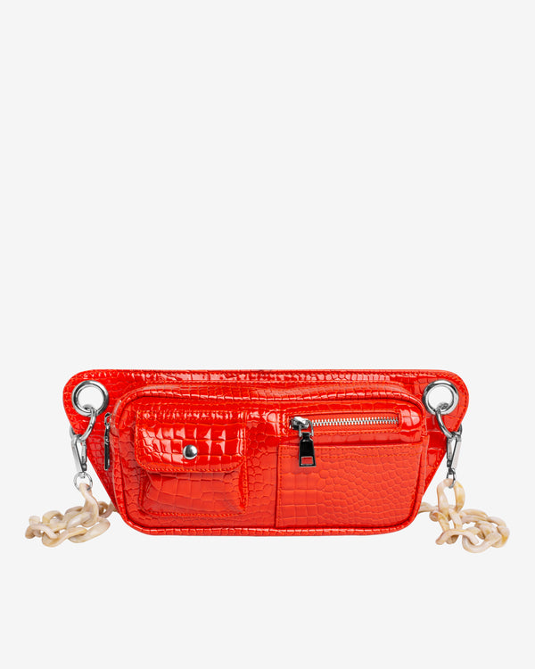 Hvisk BRILLAY CROCO Bum Bag 118 Orange/red