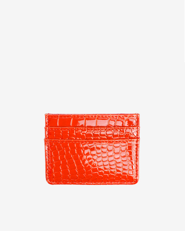 Hvisk CARD HOLDER CROCO Wallet 118 Orange/red