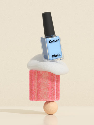 Kester Black vegan nail polish soft light blue