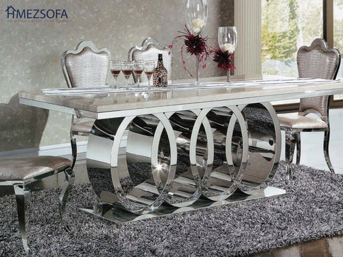 Roundies Marble Dining Table