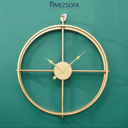 Compass Golden Clock