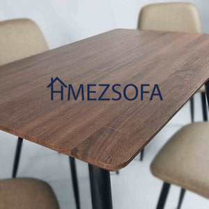 Dark Colour Wooden Dining Table (1+4)Set