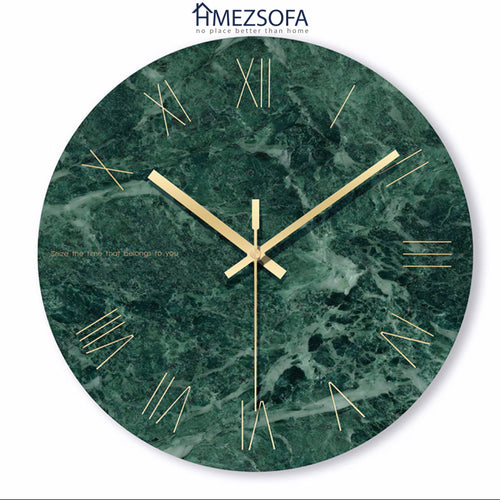 Green Marble Clock