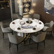 Snape Round Marble Dining Table
