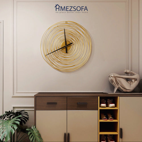 Spiral Golden Clock
