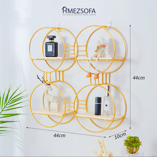 4-Circles Golden Wall Rack