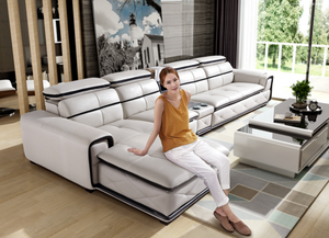 Alfred White Leather Sofa
