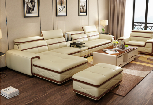 Alfred Light-Cream Leather Sofa