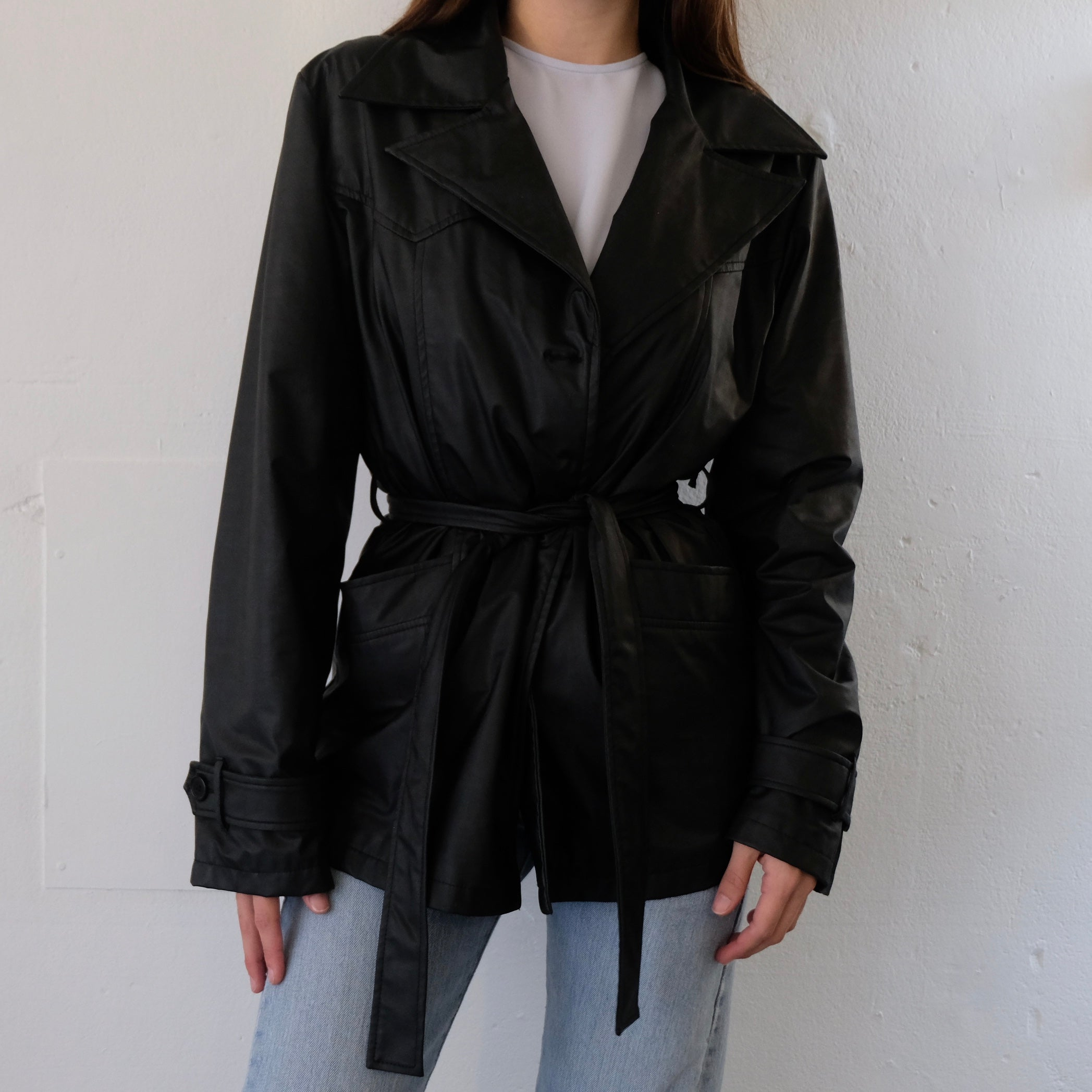 Belted Black Jacket