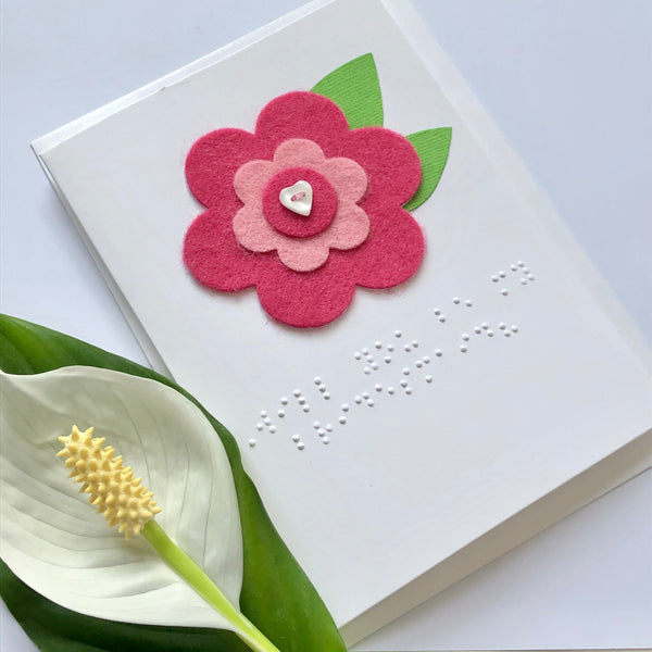 Bridesmaid Proposal Braille card