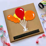 Balloon Braille Birthday card