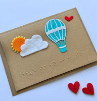 Hot Air Balloon Wedding Braille card