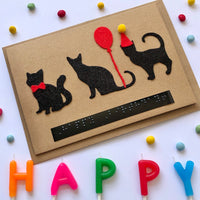 Cat Braille Birthday card