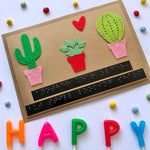 Cactus Braille Birthday card
