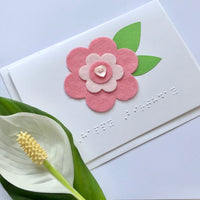 Flower Braille card