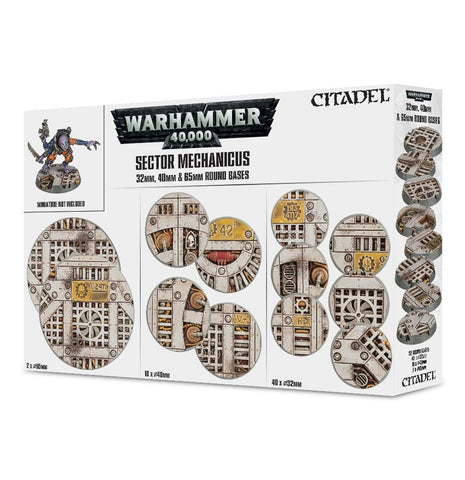 Sector Mechanicus 32mm, 40mm & 65mm Round Bases