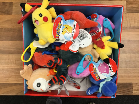 Pokémon Clip-On Plush Keyring/Bag Decoration