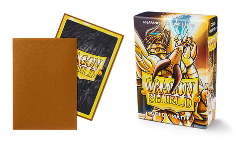 Matte Gold Dragon Shield: 60 Japanese Size Card Sleeves