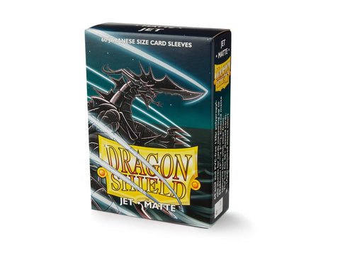 Matte Jet Dragon Shield: 60 Japanese Size Card Sleeves