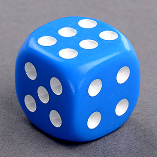 15 Round Cornered Dice Blue