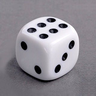 15 Round Cornered Dice White
