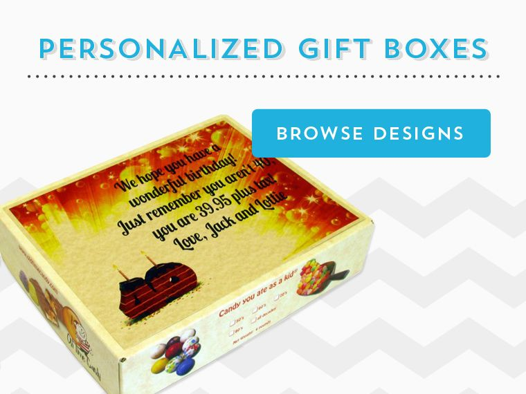 candy gift boxes for birthday's with a zero