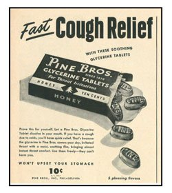 Pine Brothers Cough Drops ad