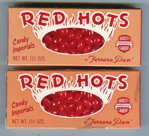 Red Hots candy box