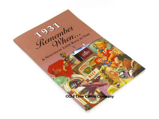 1931 Remember When Candy History Booklet