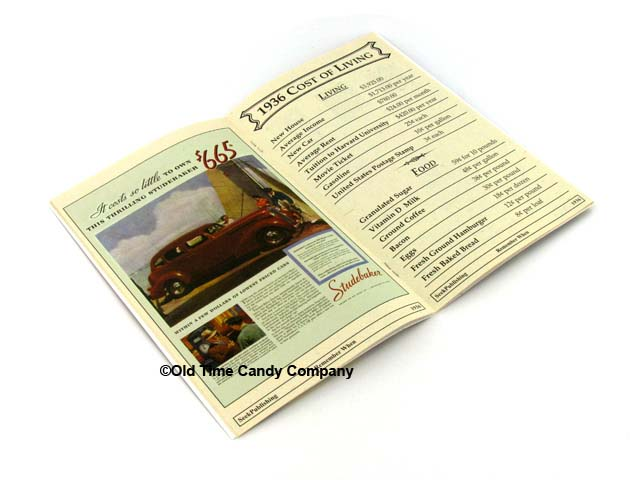 1936 Remember When Candy History Booklet